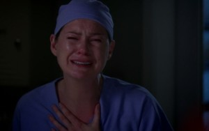 meredith in lacrime