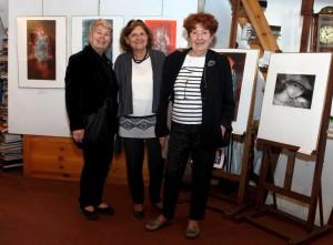 mostra arte pescarenico Da sinistra, Nicola Sene, Adriana Borrello e Luisa Asteriti