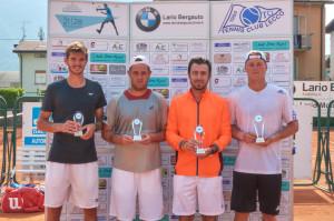tennis Andrea Vavassori e Matteo Volante con i vincitori Tuna Altuna e Andriej Kapas