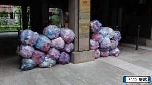 rifiuti in centro
