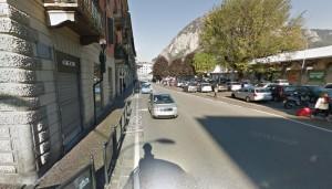 Via Sassi, vista da via Marco d'Oggiono
