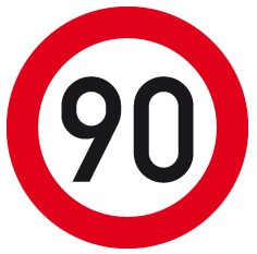 limite velocità 90