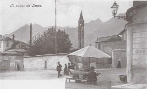 Il Campanile di San Nicolò visto dall'ex Damiano Chiesa, Lecco, 1905