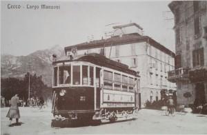 Largo Manzoni, ingresso via Antonio Stoppani, Lecco, 1921