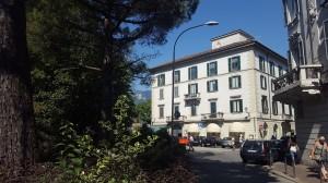 Piazza Manzoni, ingresso via Roma, Lecco, 2016