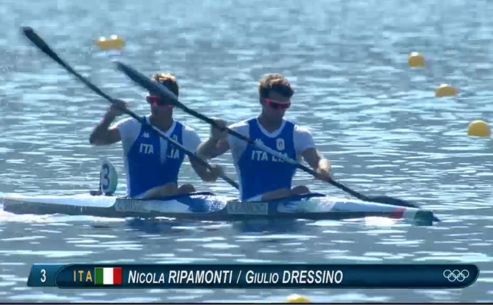 Rio 2016, canoa K2: Ripamonti/Dressino in finale con il secondo tempo