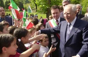 Lecco Cortenova visita del Presidente della Repubblica Carlo Azeglio Ciampi