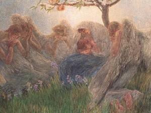 G. Previati, Maternità, 1890-1891, olio su tela.