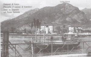 Riva del Pascolo vista dal lungo fiume di Olginate, 1910