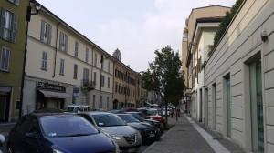 Via Azzone Visconti ed ex ricovero per anziani Muzzi, Lecco, 2016