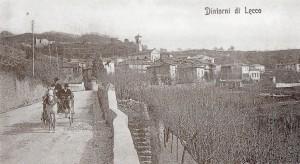 Uscita da Lecco ed ingresso di Vercurago, 1904