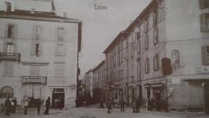 Via Antonio Stoppani vista da largo Manzoni, Lecco, 1901