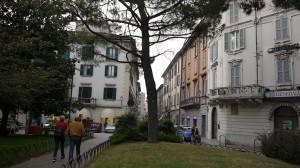 Via Roma vista da piazza Manzoni, Lecco, 2016