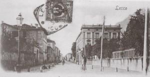 Corso Vittorio Emanuele, incrocio con via Amendola, Lecco, 1900