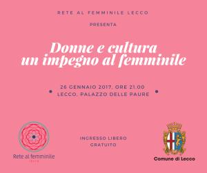 Donne e cultura 26 gennaio post
