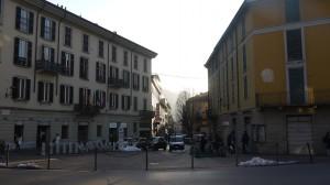Via Cavour vista da Piazza Armando Diaz, Lecco, 2017