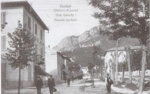 Via Umberto I e piazzale Garibaldi, Calolziocorte, 1913