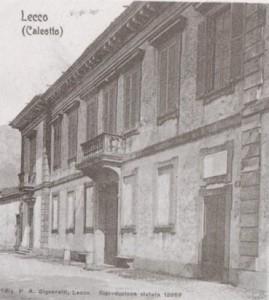 Villa Manzoni, Lecco, inizio Novecento.