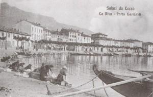 Porto Garibaldi visto dall'Imbarcadero, Lecco, 1910