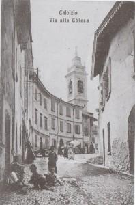Via alla chiesa, Calolziocorte, 1908