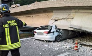 ponte annone crollo vvf ABC