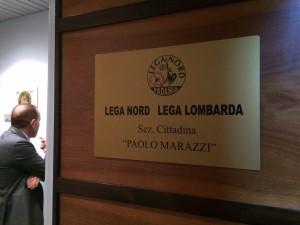 TARGA PAOLO MARAZZI LEGA NORD LECCO