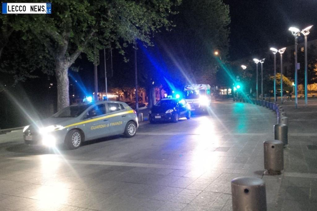 rissa lungolago cermenati ambulanza carabinieri finanza