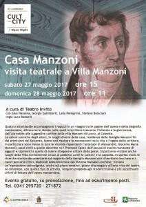 Casa Manzoni - Visita teatrale a Villa Manzoni