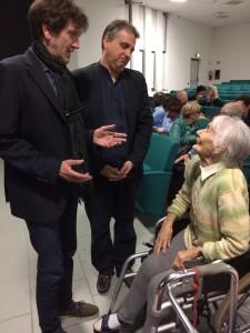 la signora Linda (103 anni) con Bario e Fagnoni