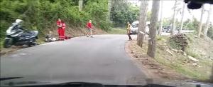 scooter caduta resinelli