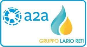 A2A E LRH LARIO RETI HOLDING loghi