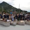 studenti del MYD con le imbarcazioni prima del varo