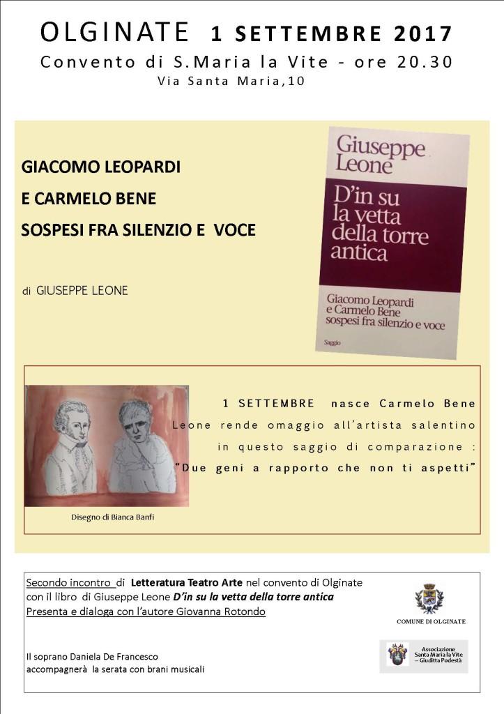 Locandina saggio Giuseppe Leone