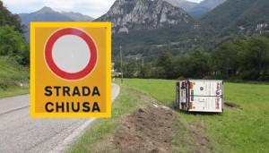 camion ribaltato pasturo CHIUSA