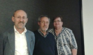 Giorgio Galbusera al centro insieme a Rosa maria Redaelli e Giuseppe Saronni