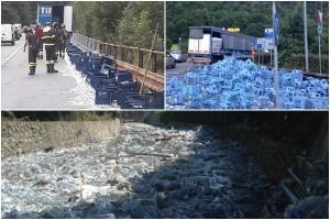 bottiglie acqua in strada