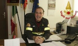 comandante toldo vigili fuoco