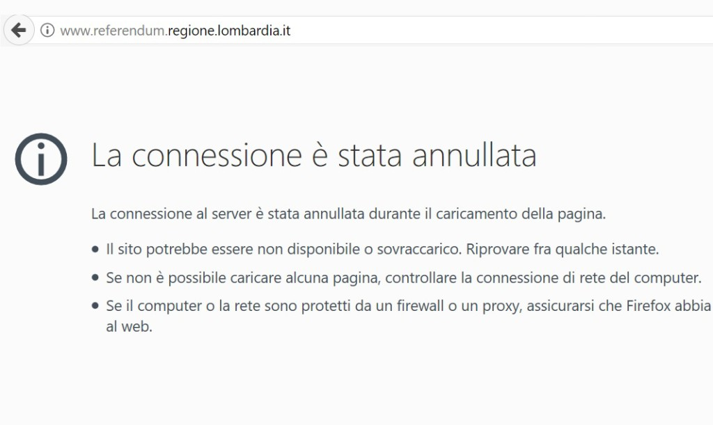 REFERENDUM SITO CRASH