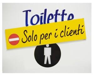 toilette solo per clienti