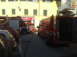 vigili del fuoco - pompieri - incendio galbiate 1