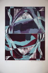 xilografie di Adriana Borrello - Speculare 2