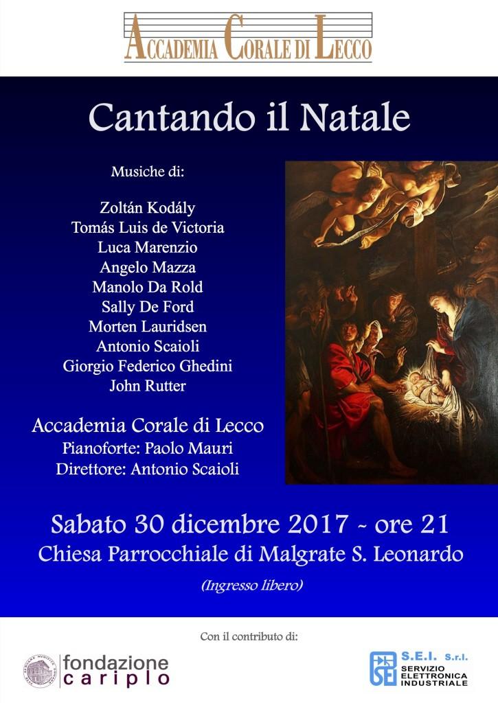 Concerto Natale 2017 Malgrate - Locandina accademia corale lecco