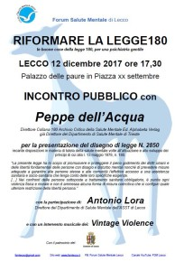 Peppe dell'Acqua - forum salute mentale