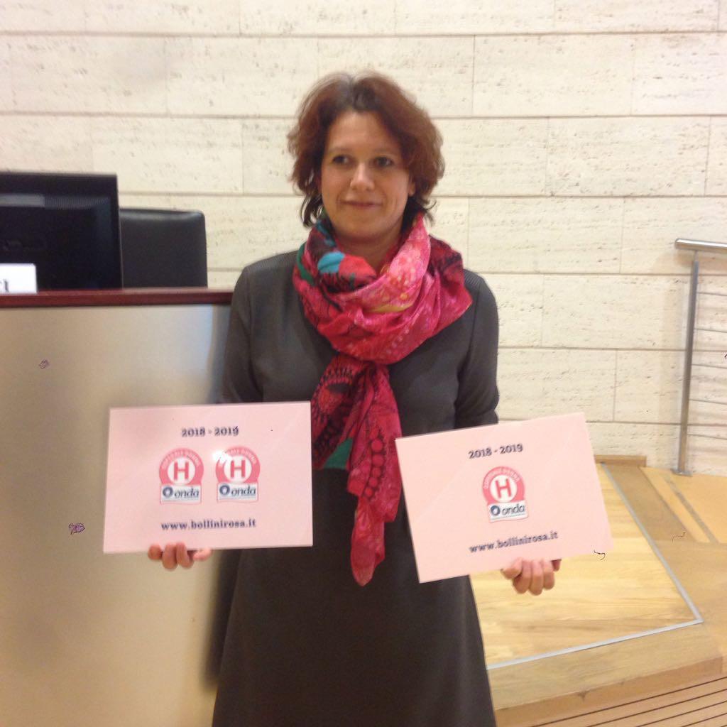 dr.ssa Elisa Pesenti - premiazione bollini rosa