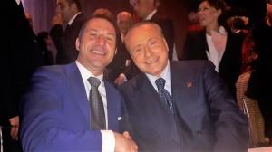Davide Bergna con Silvio Berlusconi