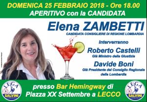 Aperitivo elettorale Elena Zambetti