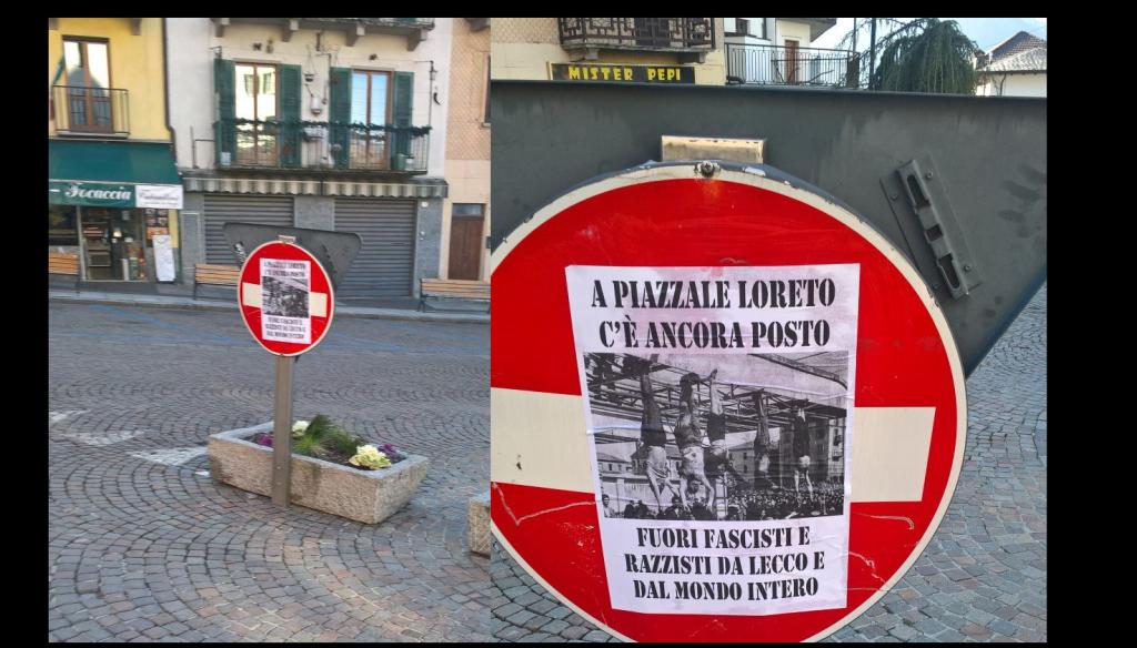 CARTELLI ANTIFA LORETO BARZIO collage