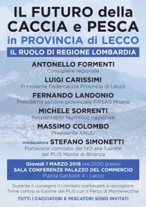 Il futuro della Caccia e della Pesca in Provincia di Lecco