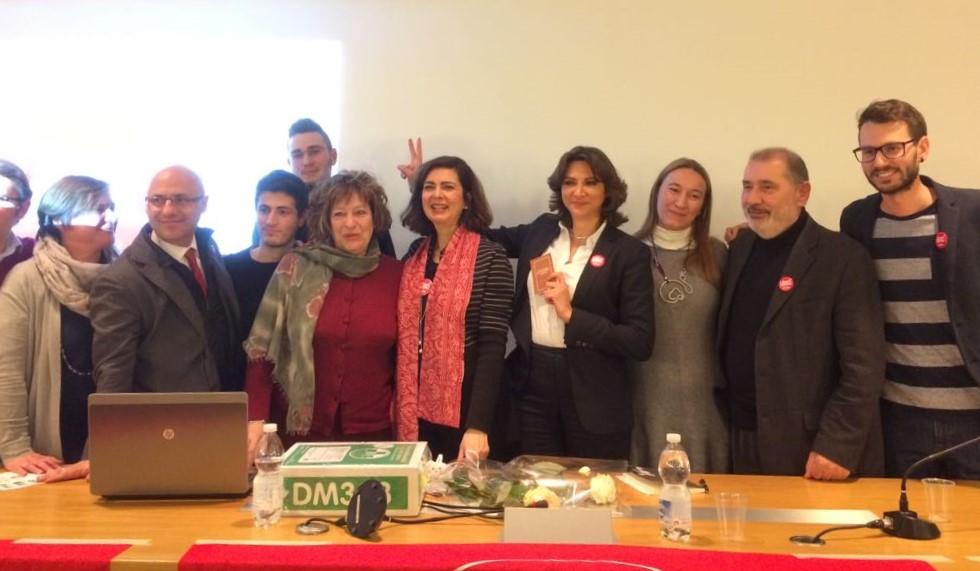 Laura Boldrini, al comizio irrompe l'ex generale Pappalardo: