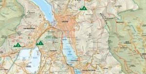 cartina mappa falesie lecco arrampicata sportiva